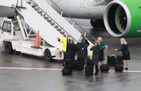 STÅR KLAR: Nå blir det igjen mulig å reise til Syden fra Haugesund lufthavn.