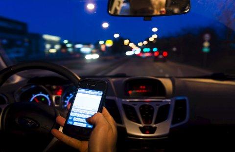 Hva er reglene for mobilbruk i bil? Illustrasonsfoto: NTB Scanpix