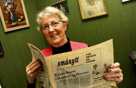 """REDAKTØR: Jorunn Lillelien Kaspersen var redaktør av RHA fra 1982 til 1988, da avisen het """"Smånytt"""".."""