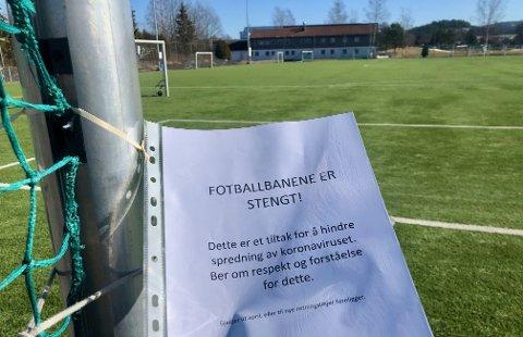 STENGT: Idrettsanlegg har den siste tiden vært stengt for aktivitet både i Asker og nasjonalt.