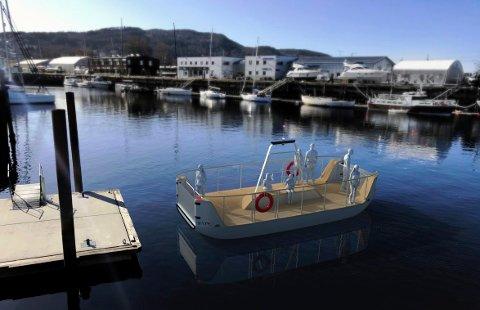 AUTONOM: Den nye ferja som skal bygges for å gå i trafikk mellom Ravnkloa og Brattøra i Trondheim fra 2020.