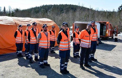 DOBLES: Sandefjord har i dag én enhet på cirka 25 kvinner og menn. Nå vil Sivilforsvaret opprette en ny og tilsvarende enhet.