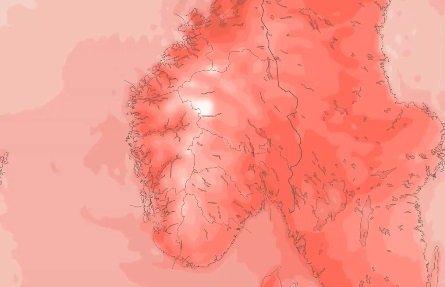 HØYTRYKK I VENTE: Til helgen er det meldt temperaturer på godt over 25 grader i Sandefjord. Noen steder i landet kan det bli 30 grader.