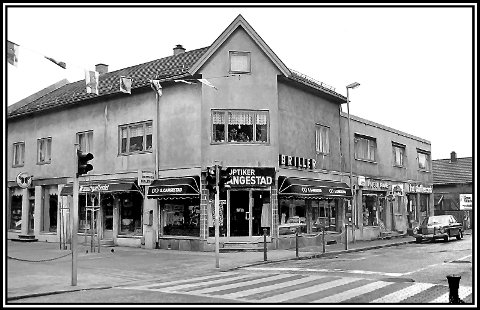 DEN GANG DA: Hjørnet Rosenkrantzgate/St. Marie gate foreviget i 1982.