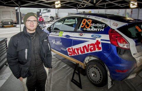 Tohjulstrekk: Oscar Solberg (19) har parkert Subaruen til fordel for en innleid Ford Fiesta R2T til Rally Sweden. Målet er å komme i mål, og forhåpentligvis bli beste tohjulstrekker i løpet.    Alle FOTO: SIMEN NÆSS HAGEN