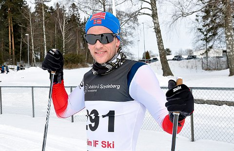 MELLOMFORNØYD: Espen Udjus Frorud var mellomfornøyd med 26. plassen i Birkebeinerrenent.