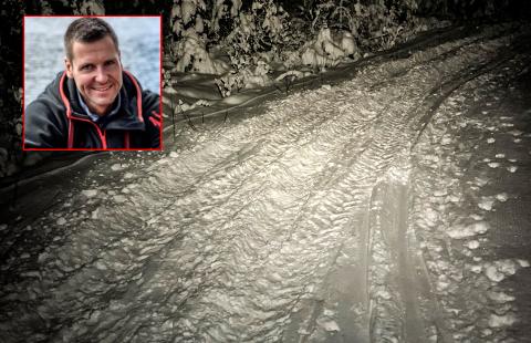ØDELAGT: Preparerte skiløyper ble ødelagt av det som mest sannsynlig er en ATV.