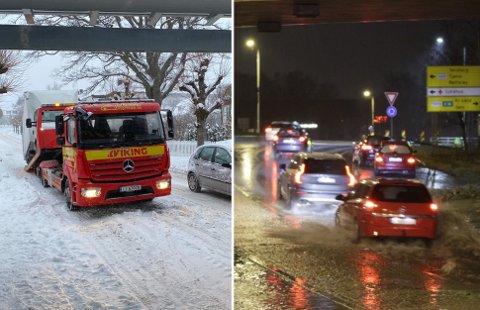 OBS OBS: Det er ventet at snøværet vil gå over til sludd og regn i løpet av torsdagen.
