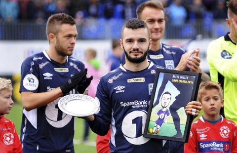 ÅRETS SPILLER I FJOR: Kamer Qaka var årets spiller i 1. divisjon i fjor. Han har mål om å være best også i 2017.