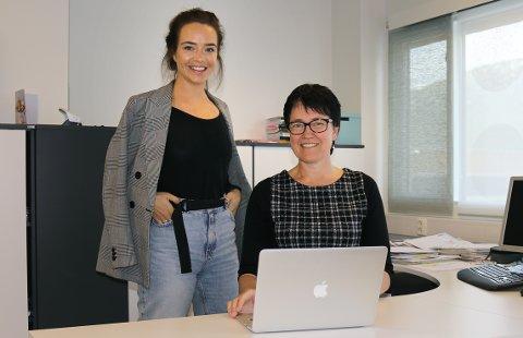 TO BLIR ÉN: Mari Westad i Halsa Næringsforening og prosjektleder Tora Vaagan Hofset i Hemne Næringsforum arbeider med sammenslåing av de to næringsforeningene. Styrene behandler saken tirsdag 14. mai.