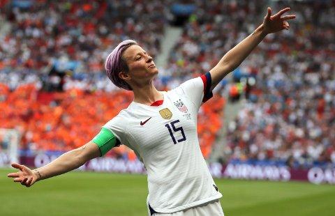«Dere robbet verden for en av de beste spillerne på en av de største scenene», sier USAs Megan Rapinoe om Ada Hegerbergs VM-fravær.