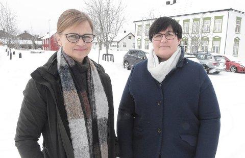KRAV: Ordførerne Margrethe Svinvik i Surnadal og Vibeke Langli i Rindal står side ved side i kampen om utbedring av fylkesveg 65 i dalføret opp mot Storås og Orkanger.
