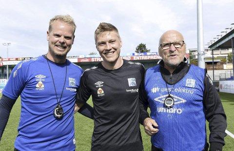 Var en favoritt: Christian Michelsen (til venstre) og Ole Olsen har aldri lagt skjul for sin begeistring for Torgil Gjertsen. Kantspilleren utelukker ikke en retur til Kristiansund, men det skal mye til for at en overgang skjer nå.