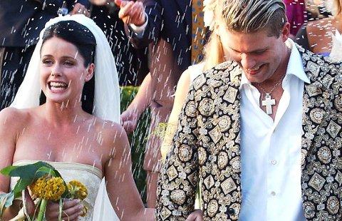SLUTT: Lene Nystrøm og bandkollega Søren Rasted giftet seg i Danmark sommeren 2001. Nå har paret uttalt at de skal skilles.
