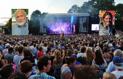 VIKTIG: Ole Morkken og Charlotte Svendsen håper begge Slottsfjellfestivalen klarer seg.