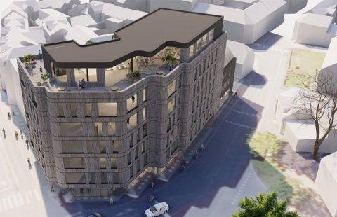 PÅ EKSISTERENDE KONSTRUKSJONER: Det nye bygget er planlagt i seks fulle etasjer pluss en inntrukket sjuende etasje.