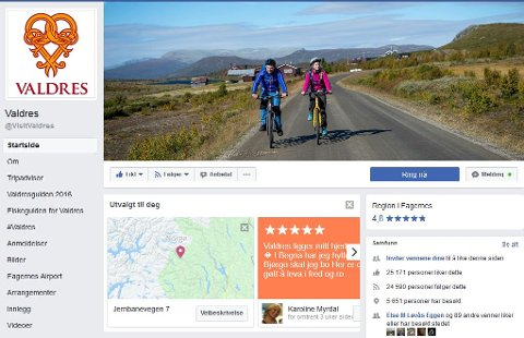 Det er over 25.000 som liker Visit Valdres på Facebook.