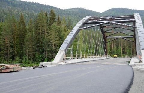Den nye Hellefossbrue har vært åpen for trafikk siden 5. juli. En måned senere forekommer den offisielle åpningen ved fylkesordfører Even Aleksander Hagen.