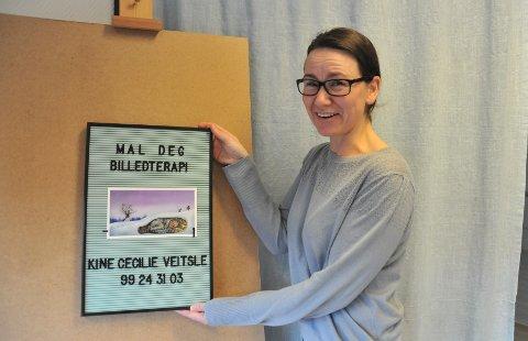 MAGISKPORTAL:Kine Cecilie Veitsle har erfart at mye som folk strever med å snakke om, kan de tegne og male om.