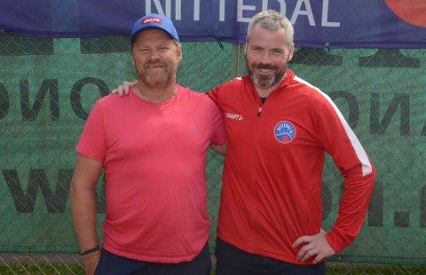 VETERANER: Knut Eirik Bartnes (t.v.) og Svein Are Lapstun har vært turneringsledere for Hardhausen siden starten i 2009.