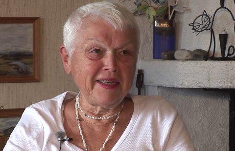 FILMINTERVJU: Irene Gjølstad ble intervjuet av Vestby Historielag i 2012. Filmen vises på Elverhøy tirsdag 8. januar.