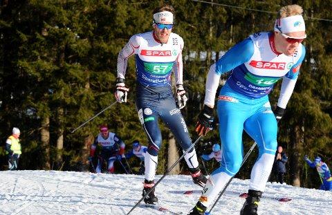 GOD ETAPPE: Lars Gunnar Skjevdal gikk en meget god etappe da Tydal ble nummer seks på NM-stafetten.