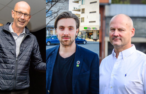 POPULÆRE MENN: De tre mest populære politikerne i Ås (i antall personstemmer) er Ola Nordal, Martin Løken og Bengt Nøst-Klemmetsen.
