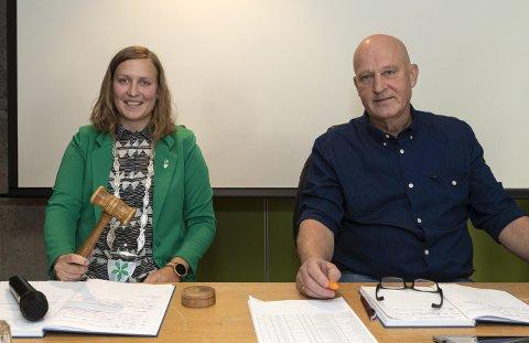 Ingrid Waagen og Arne Magnus Aasen, ble valg til henholdsvis ordfører og varaordfører – ved hemmelig valg.
