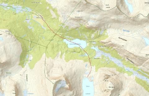 Kart: Dette er ruten helikopteret vil ta inntil fem ganger en dag i april.