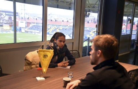 Stjernetreff: Glimt-keeper Ricardo, intervjuet av Hanne Marit Hemmingsen.