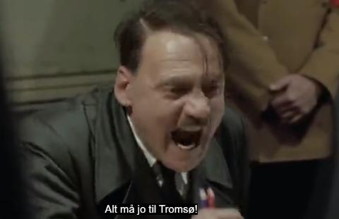 PÅ BAKROMMET: To navngitte ledere i Finnmark fylkeskommune anklages for å stå bak filmen som skal vise hvordan fylkessammenslåingen mellom Troms og Finnmark egentlig foregikk. Og fylkesrådsleder Willy Ørnebakk blir portrettert som Hitler.