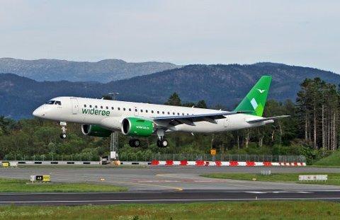 LN-WEX inn for landing i Norge for første gang