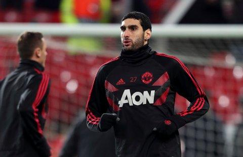 PÅ VEI BORT? Manchester Uniteds Marouane Fellaini. (AP Photo/Jon Super)