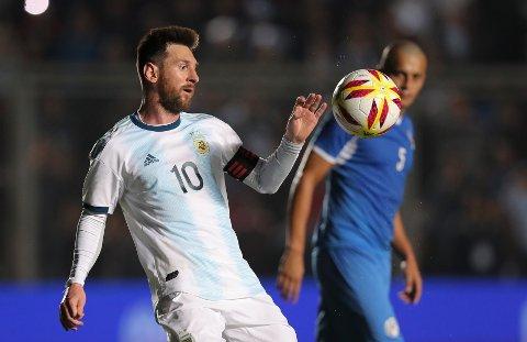 Argetina og Lionel Messi er en av de største favorittene til å vinne mesterskapet. De har vært i finalen fire av de fem siste gangene. (AP Photo/Nicolás Aguilera)