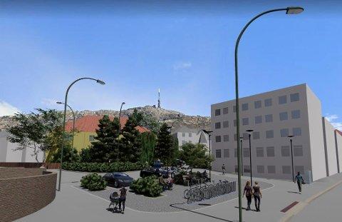 Et av mobilpunktene kommer i Kiellands gate, sør for Årstad videregående skole. Her blir det ladepunkt, bysykler og reserverte plasser for bildeleringen.