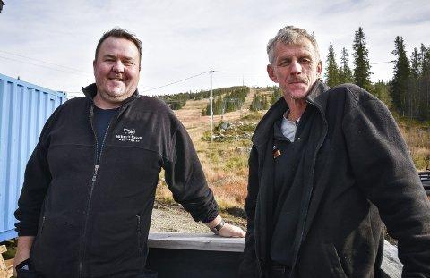 IDÉDUGNAD: Kristian Medalen (t.v.) og Morten Olsen vil samle Haglebu til «ett rike» for å få større gjennomslagskraft.
