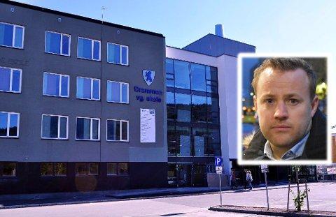 VIDEREGÅENDE SKOLE: Drammen VGS er en av 58 videregående skoler i Viken. Nå skal sikkerhetsrutinene gjennomgås på samtlige skoler, før det kommer felles retningslinjer. Lavrans Kierulf (Frp) mener det trengs.