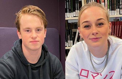 FÆRRE TIL JUL: Både Henrik Berthelsen (19) og Madeleine Johansen (21) skal feire med færre familiemedlemmer enn de pleier.
