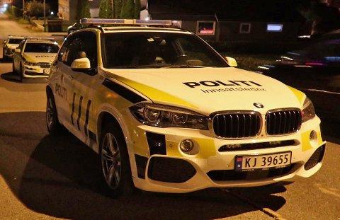 Politiet rykket lørdag kveld ut med flere biler til en adresse i Krokstadelva.