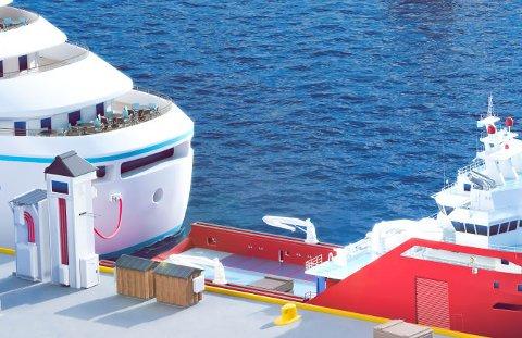 ENOVA: Enova støttar no ti nye prosjekt som kuttar klimagassutslepp frå skip ved kai. To av prosjekta er i Florø.