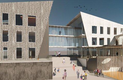 STOPP: Det blir ikkje løyvd meir pengar til rådhusprosjektet i Florø etter dagens formanskapsvedtak.