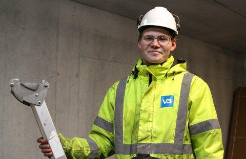 Ole Johan Vonen frå Naustdal er lærling hos Florø Rør.
