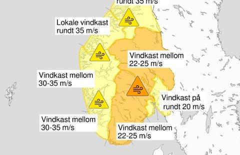 VINDFULL: 1. nyttårsdag har det meldt kraftig vind i heile Sør-Norge.