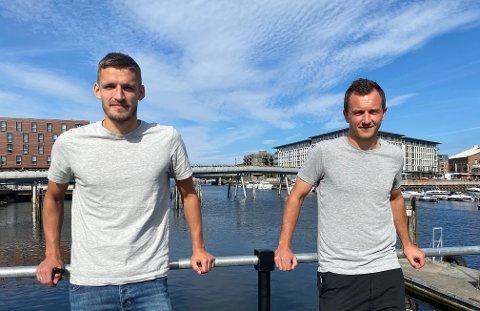 SOGNINGAR I TRØNDELAG: Gustav Valsvik (27) og Even Hovland (31) er inne i sin andre sesong som lagkameratar i Rosenborg. Etter to år prega av kaos og trenarbyter håpar dei på meir stabilitet framover.