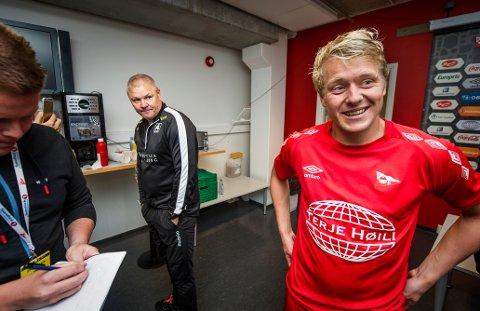 I tenkeboksen: Filip Westgaard har fortsatt ikke bestemt seg for om han blir med FFK videre eller ikke. - Vi får først se hvem som blir trener, sier høyrebacken. (Foto: Geir A. Carlsson)