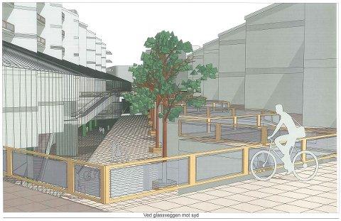 I mulighettstudien fra ARKITEKtteam finnes denne skissen av et knutepunkt ved en ny Moss stasjon på Myra.