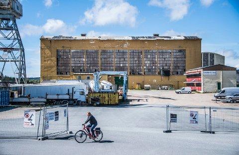 Sveisehall 1, med sin svimlende grunnflate på 1.280 kvadratmeter, har Jotne Eiendom tatt med seg videre i sine planer for bydelen.
