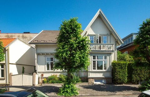 Denne trevillaen i Bjarne Aas gate 4 har en prislapp på over 12 millioner kroner.