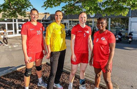 KVIKKERE: «Nye» FBK fortsetter å vinne. I tillegg til nykommerne Runa Heimsjø Sand (til venstre), Caroline Martins, Ingeborg Furunes og Candy Jabeth, er også spillestilen ny.