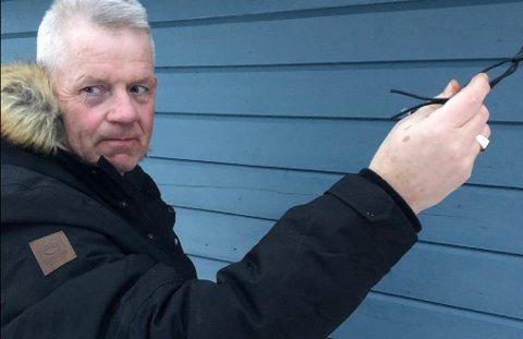 TRASIG: Wiggo Pettersen er oppgitt over at folk kan falle så dypt at de ødelegger andres julepynt